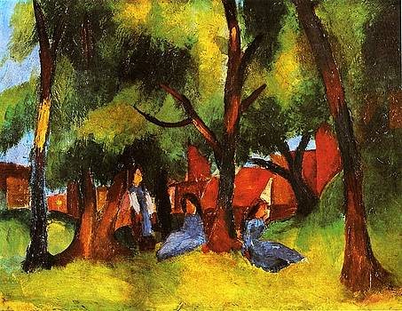 August Macke - Children Under Sunny Trees