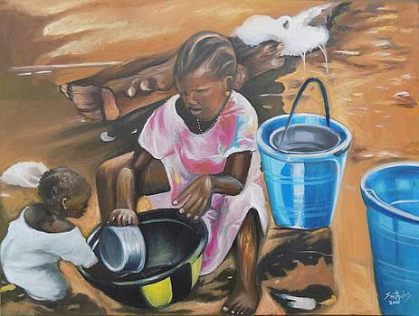 Children water Play by Olaoluwa Smith