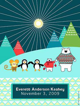 Children's Arctic Animal Poster by Misha Maynerick