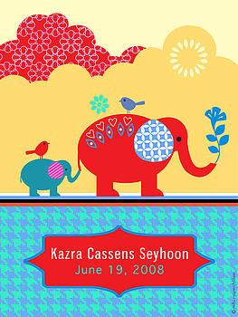 Children's Elephant Poster by Misha Maynerick