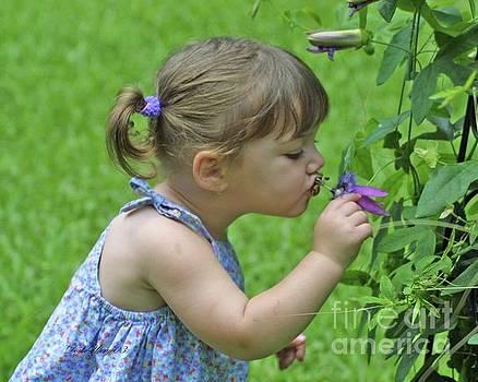 Child's  Kiss by Dodie Ulery