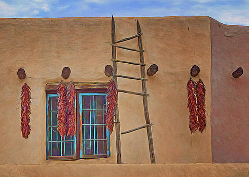 Nikolyn McDonald - Chile Ristras - Window - Ladder