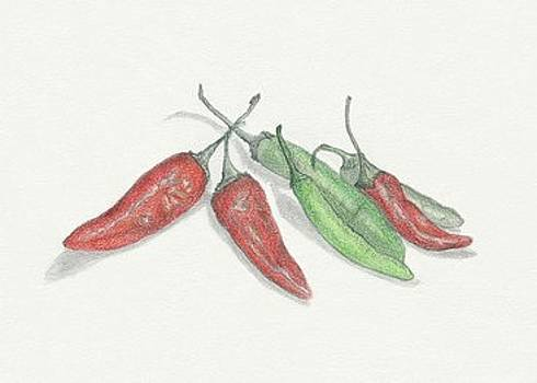 Chili Peppers by Tara Poole