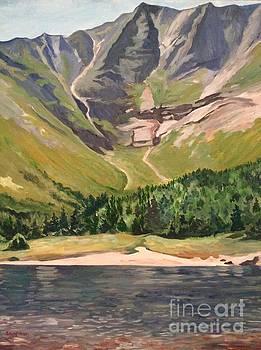 Stella Sherman - Chimney Pond at Katahdin Basin