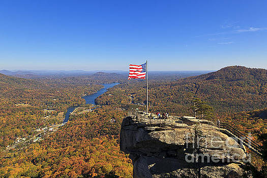 Jill Lang - Chimney Rock in the Fall