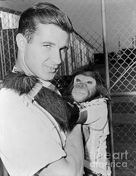 R Muirhead Art - Chimpanzee Enos NASA Astronaut