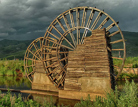 China Wooden Water Wheel by Donna Caplinger