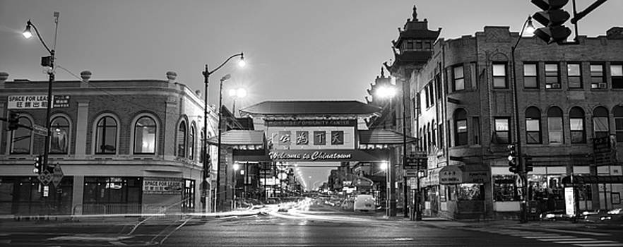 Chinatown Chicago BW by Steve Gadomski