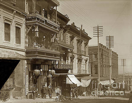 California Views Mr Pat Hathaway Archives - Chinatown - Clay Street toward Dupont Street Chainatown San Francisco 1900