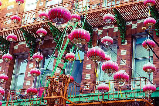Sonja Quintero - Chinatown Lanterns in Pink