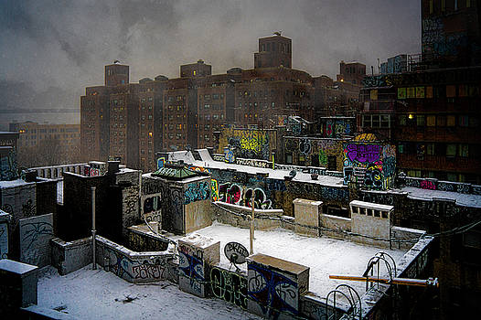 Chinatown Rooftops In Winter by Chris Lord