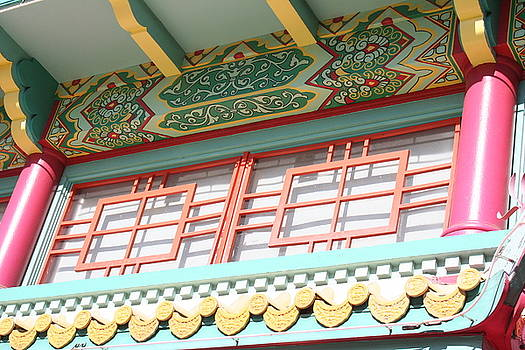 Chinese Building Detailed by Shelly Davis