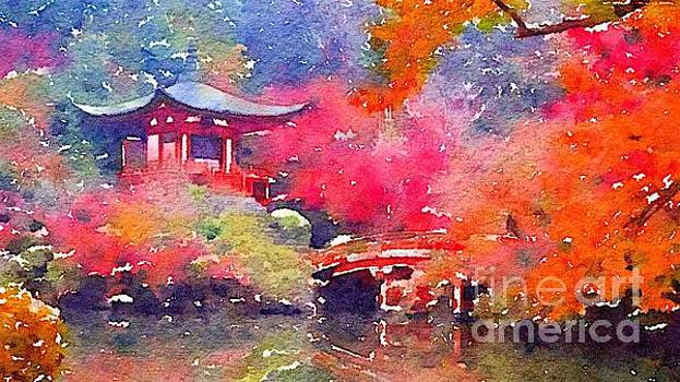Rich Governali - Chinese House and Bridge on Pond