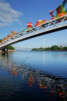 Reimar Gaertner - Chinese Lantern festival reflections at Ontario Place footbridge