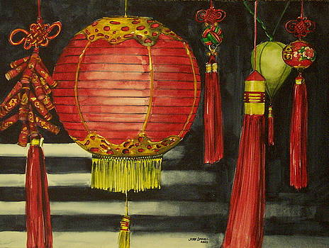Chinese Lanterns No. 1 by Jane Loveall