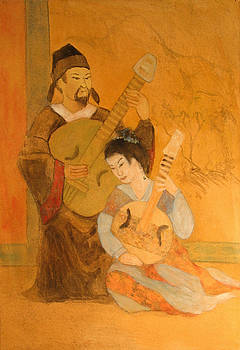 Chinese musicians by Jan Frazier