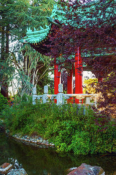 Chinese Pavilion View by Bonnie Follett