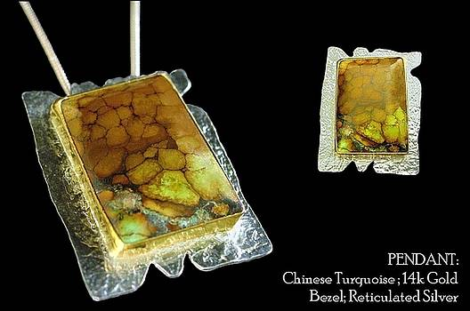 Chinese Turquoise Pendant by Leslie Rhoades