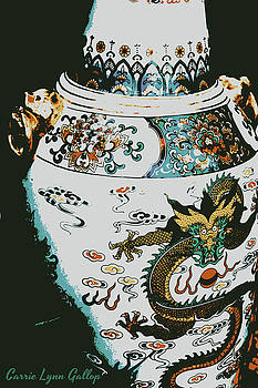 Chinese Vase Poster by Carrie Gallop