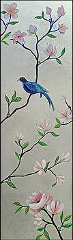 Chinoiserie - Magnolias and Birds #4 by Shadia Derbyshire