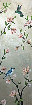 Chinoiserie - Magnolias and Birds by Shadia Derbyshire