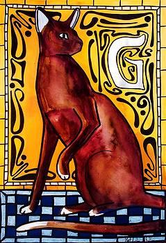 Chocolate Delight - Havana Brown Cat - Cat Art by Dora Hathazi Mendes by Dora Hathazi Mendes