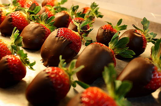 Anne Babineau - chocolate-dipped strawberries