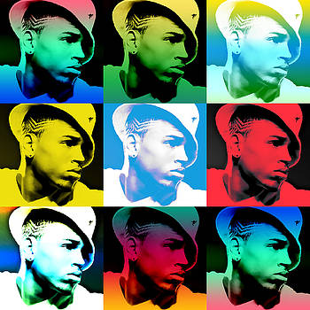 CHris Brown Warhol by GBS by Anibal Diaz