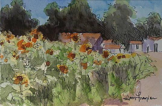 Chris's Sunflowers by Jan Frazier