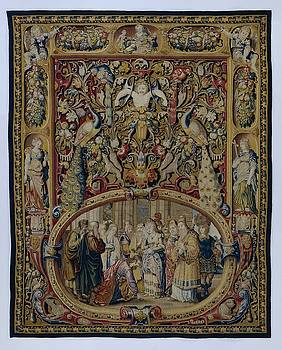 Textile tapestry Christ and the woman taken in adultery by R Muirhead Art