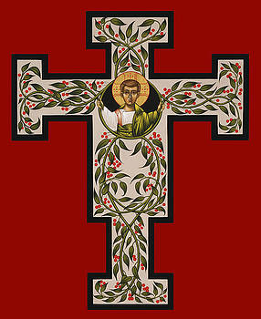 Christ Emmanuel Flowering Cross 018 by William Hart McNichols