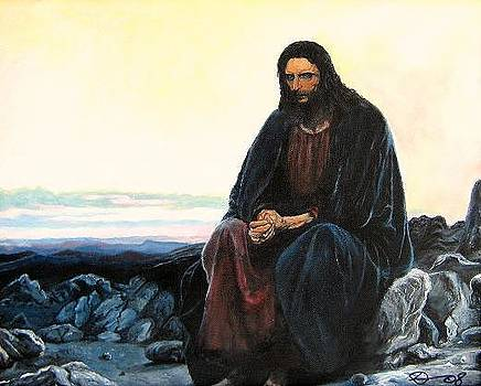 Christ in the wilderness  by David Perales