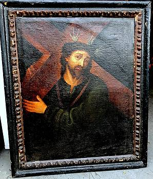 Christ of Nazareth with Cross by Unknown 16th Century Artist
