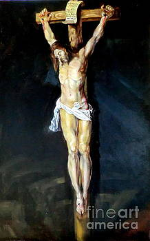 Christ on the Cross after Peter Paul Rubens by Hidemi Tada