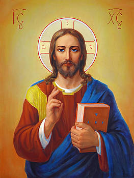 Christ Pantocrator - Cristo Pantocratore by Svitozar Nenyuk