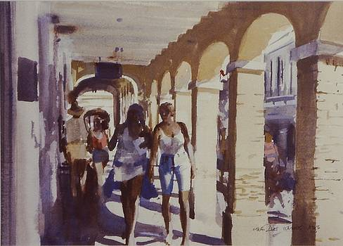 Christiansted Tourists by Charles Hawes