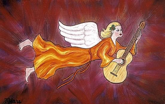 Linda Mears - Christmas Angel and Guitar