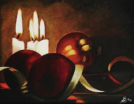 Christmas Balls in Candle Light by Kim Selig