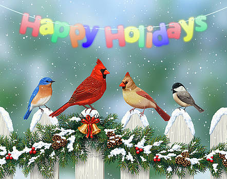 Crista Forest - Christmas Birds and Garland