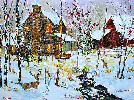 Christmas Cabin by Kevin Brown