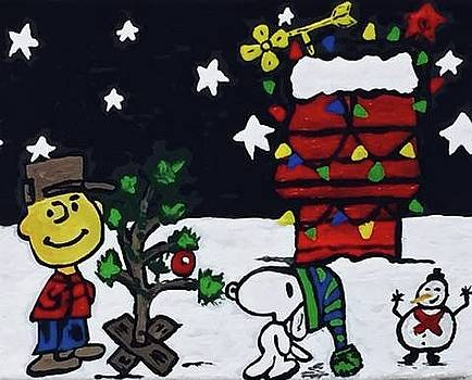 Christmas Card Canvas Art by Jonathon Hansen