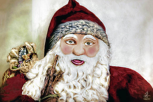 Christmas Card - Ho Ho Ho by Pennie  McCracken