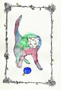 Christmas Cat by Andrea Rubinstein