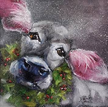 Christmas Cow by Angela Sullivan