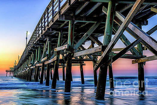 Christmas Day Sunrise at the Pier #2 by David Smith