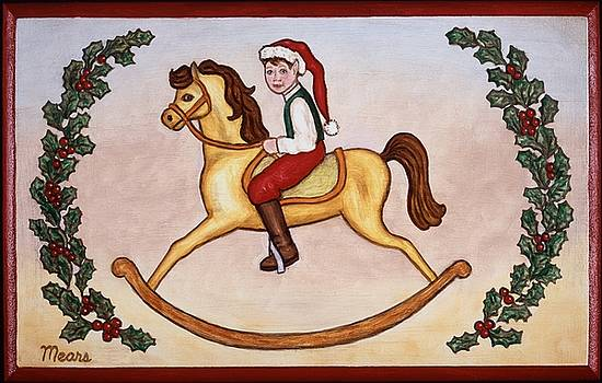Linda Mears - Christmas Elf on a Rocking Horse
