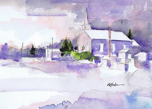 Christmas Eve Twin Churches by Robert Yonke