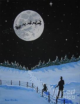 Christmas Eve Stroll by Norm Starks
