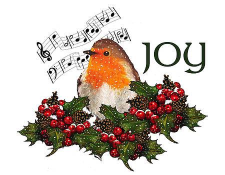 Joyce Geleynse - Christmas Holly With English Robin