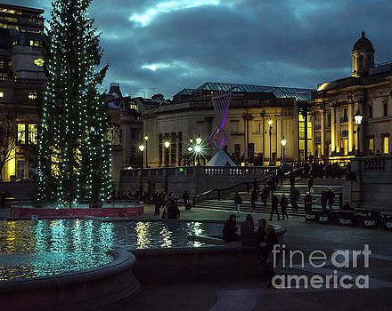 Christmas In Trafalgar Square, London 2 by Perry Rodriguez